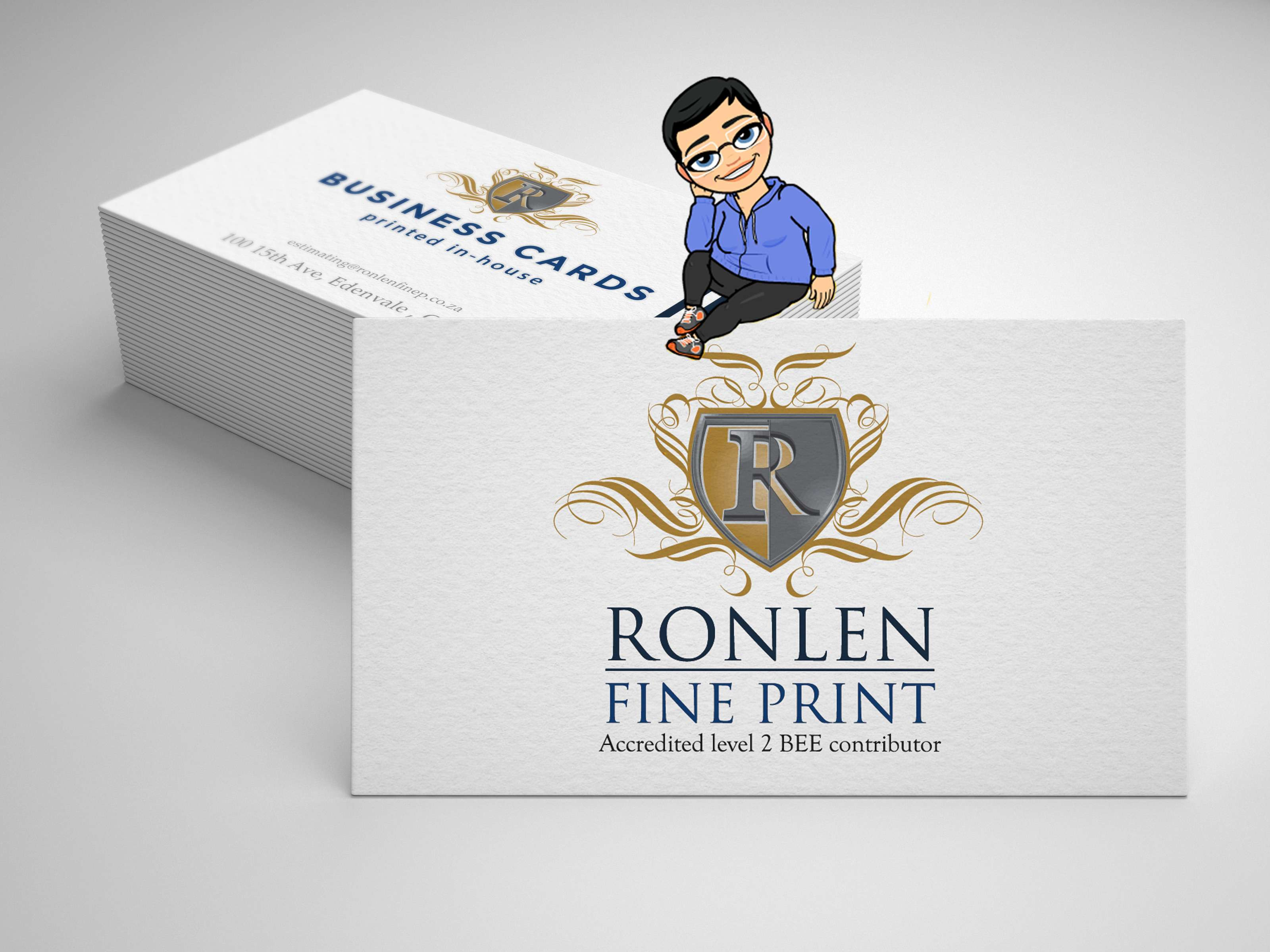 Business cards ronlenfineprint business cards reheart